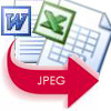 Convert word excel to JPEG