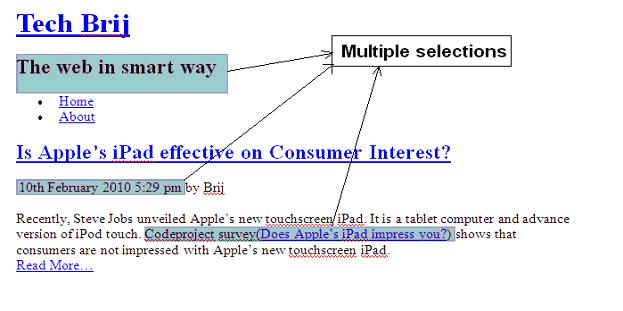 word multiple selection